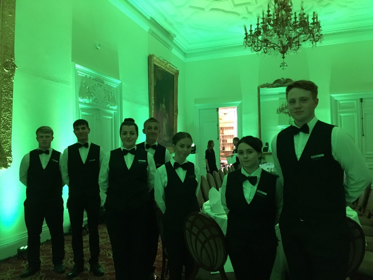 Formal Dinner at Fawsley Hall - Hospitality Staff